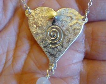 Heart Bracelet Earrings Pendant Sterling Silver Jewellery, SquareHare, Free Postage shipping worldwide, vegan UK, Valantine Love Hearts Gift
