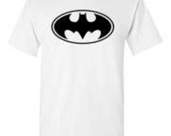 Batman Black Logo White T-Shirt