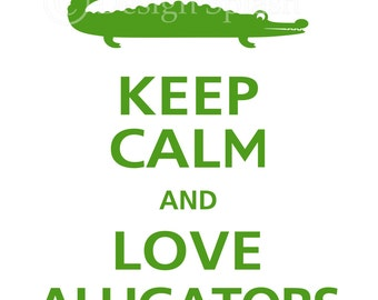 Keep Calm and LOVE ALLIGATORS Vinyl Wall Decal KC-105