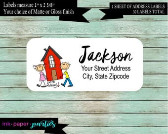 New Home We've We Have Just Moved Moving Return Address Labels Personalized Custom