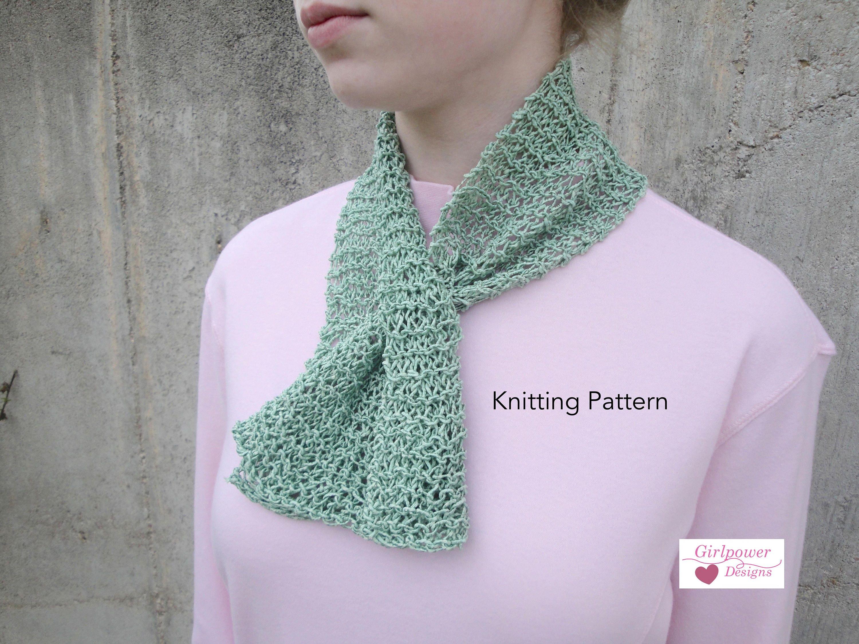 Captivating Scarflette Scarf PDF Knitting Pattern Easy Short