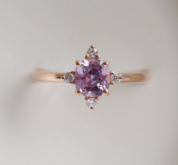 sapphire engagement lavender cushion ring rings il listing promise