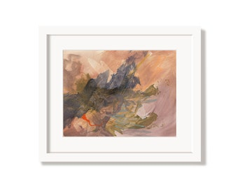 Pink Fire Art Print from an Original Abstract Painting
