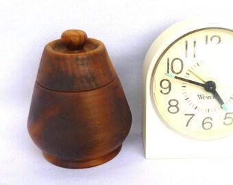 Vintage WOOD TURNED Little JAR