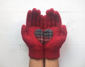 Wanderlust Gloves, Heart Gloves, Wanderlust Gift, Gift For Her, Gift For Friend, Plait Heart, Inspirational Gift, Heart Gift, Sales Event