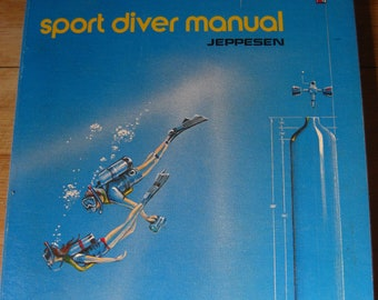 Sport Diver Manual, Diving Instruction Book, Jeppeson 1970s, Charts and Illustrations