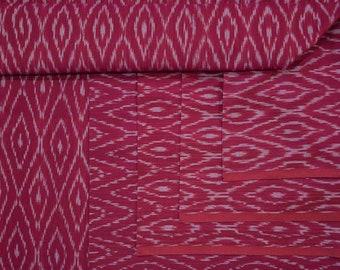 Dark Pink Handloom Fine Ikat Fabric