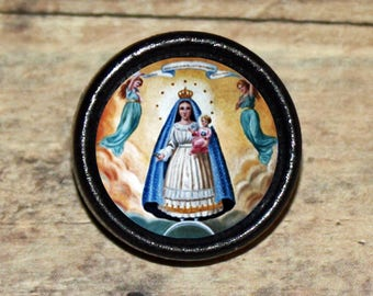 Our Lady CARIDAD del COBRE Pendant or Brooch or Ring or Earrings or Tie Tack or Cuff Links