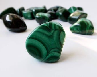 Malachite - tumbled crystal, polished crystal, protection, crystal healing