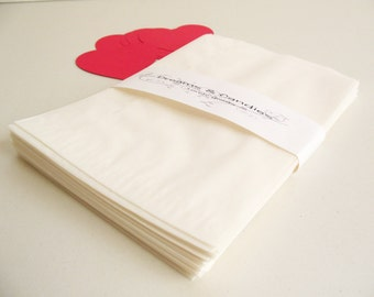"""75 Glassine Paper Bags Size 5 3/4"""" x 7 3/4"""" 1lb -White Glassine Bags -Wedding Favor Bags -Candy Bags -Small glassine bags -Packing Bags"""