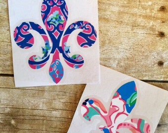 fleur de lis decal / lilly decal / mardi gras / louisiana decal / Vinyl decal / Car decal / Car sticker / Yeti cup sticker / yeti cup decal