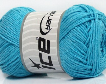Ice Yarns - Natural Cotton - Light Blue - 100% Cotton - 100grams
