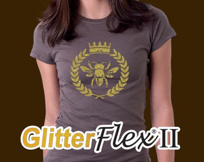 """19""""x 5yd / 1-sheet  / **NEW** GlitterFlex II - Heat Transfer Vinyl - HTV"""