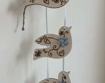 Love Dove Home Sweet Home Bunting with Embellishments