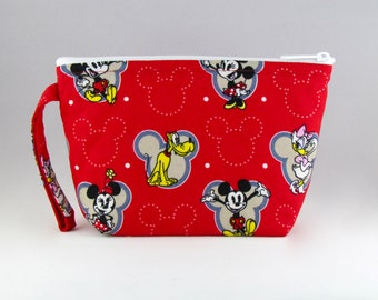 Mickey and Friends Makeup Bag - Accessory - Cosmetic Bag - Pouch - Toiletry Bag - Gift