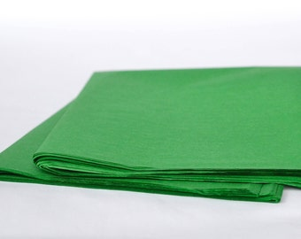 Tissue Paper, Green 24 Sheets, Gift Tissue Paper, Wrapping Paper, Party Decorations, Craft Supplies, Gift Packaging