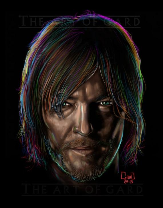 Disco Daryl (Daryl Dixon/Norman Reedus Portrait)