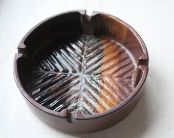 Retro Pottery Craft Ashtray No. 400 - Mid Century Modern - Earthy Colors