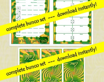 St. Patricks Day Lucky Bunco Printable Set