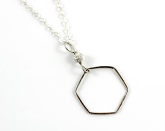 Sterling Silver Geometric Necklaces You Choose, Chain Necklace, Loop Jewelry, Minimal, Handmade Jewelry, Vancouver Island Jewelry