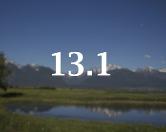 Half Marathon decal, 13.1