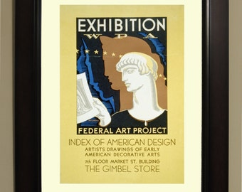 Exhibition WPA Federal Art Project Index of American Design WPA Poster - 3 sizes available, one price.