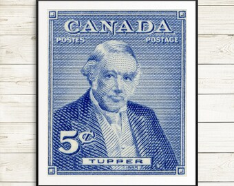 Charles Tupper, Nova Scotia poster, Prime Ministers of Canada, Canadian History, Canada history, history posters, classroom posters, decor