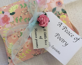 A little box of flower poems by Jannietta