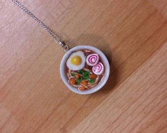 Ramen bowl, miniature food pendant