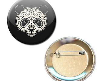 Panda badge Tribal face Ø 56 mm Button Pin