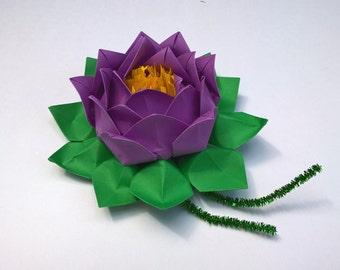 Paper lotus flower etsy more colors 20 petals lotus with stamina paper lotus flower mightylinksfo