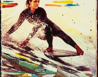 SAILI STEEZ, New 8x10, 11x14, 16x20, Surf Art, Hand-Signed matted print, Surfer, Beach, Surfing, Textiles, Patterns, Ocean Art, Wall Art