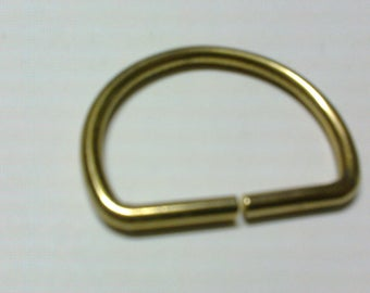 Ring half moon solid brass gold plated