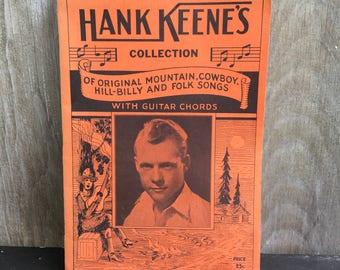 Hank Keene's collection of original mountain, cowboy, hillbilly and folk songs guitar 1935