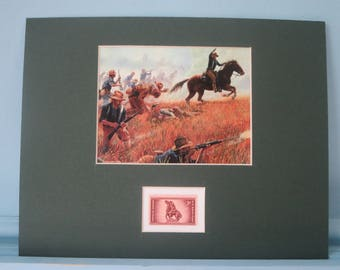 Rough Rider Teddy Roosevelt charges up San Juan Hill honored by the Rough Riders stamp