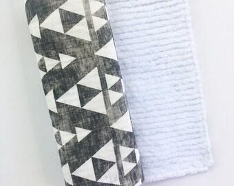 Mix & Match baby burp cloths- Aztec Triangle- Burp Rag