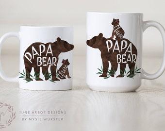 Papa Bear with Cub | Papa bear Baby Bear | PapaBear Mug | Dad Mug | Bear Cub | Bear with Cubs Mug | New Parent Gift | Daddy Bear | Dad Gift