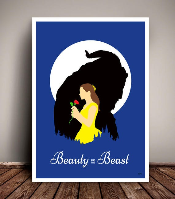 Beauty And The Beast // Disney // Emma Watson // Minimalist Movie Poster // Unique Art Print