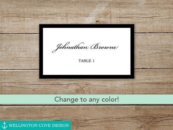Wedding Place Cards Template Microsoft Word Printable
