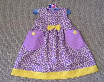 Puperita Pattern, Girls Dress, Girls Clothing, Girls Size 18m