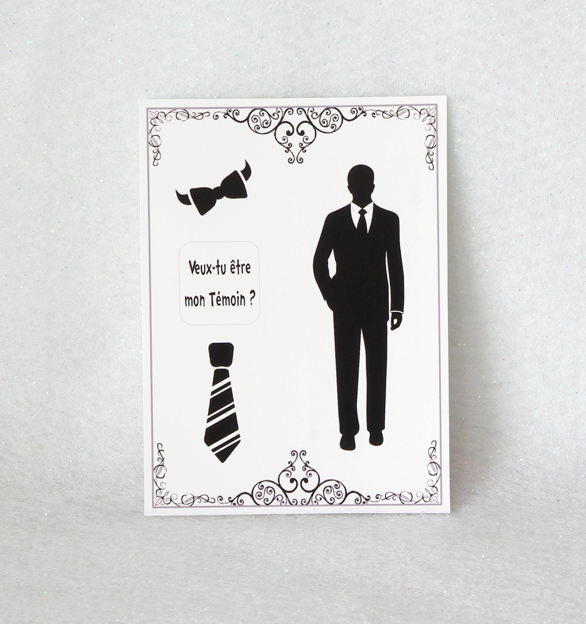 Annonce Témoin Mariage intérieur 1 carte jeu à gratter personnalisée mariage témoin grossesse