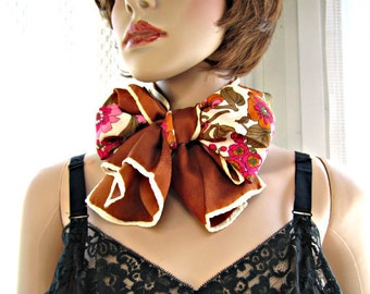 Scarf, Floral scarf, Long scarf, Scarf with flowers