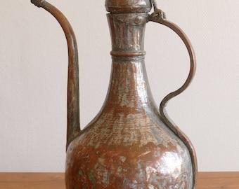 Antique Turkish copper Ewer