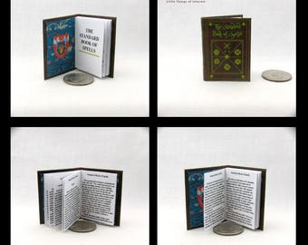 The STANDARD BOOK Of SPELLS 1:6 Scale Illustrated Readable Book Magic Wizard Witch Popular Boy Wizard Gypsy Potter Barbie Accessory Bjd