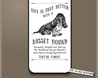 Basset Hound dog phone case cover iPhone Samsung ~ Can be Personalised