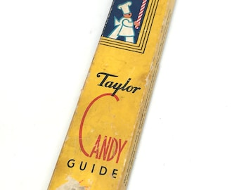 Vintage Taylor Candy Thermometer, Baking, Kitchen, Retro, Antique, Candy Making Supplies, Gadget, Tool, Thermometer, Gauge, C1940