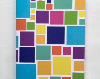 Colourful Squares A5 Notebook