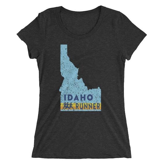 Women's Idaho Runner Triblend T-Shirt - Run Idaho - Women's Short Sleeve Running Shirt