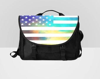 Flag Laptop Bag Messenger Bag Rainbow Flag