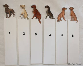 Dog Bookmark - choose one - hunting dogs - hand painted